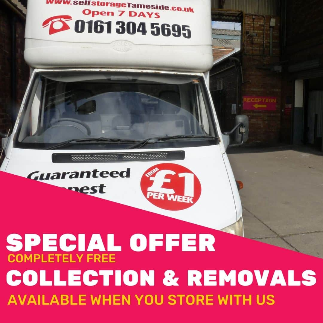 Free collection and Removals Special Offer