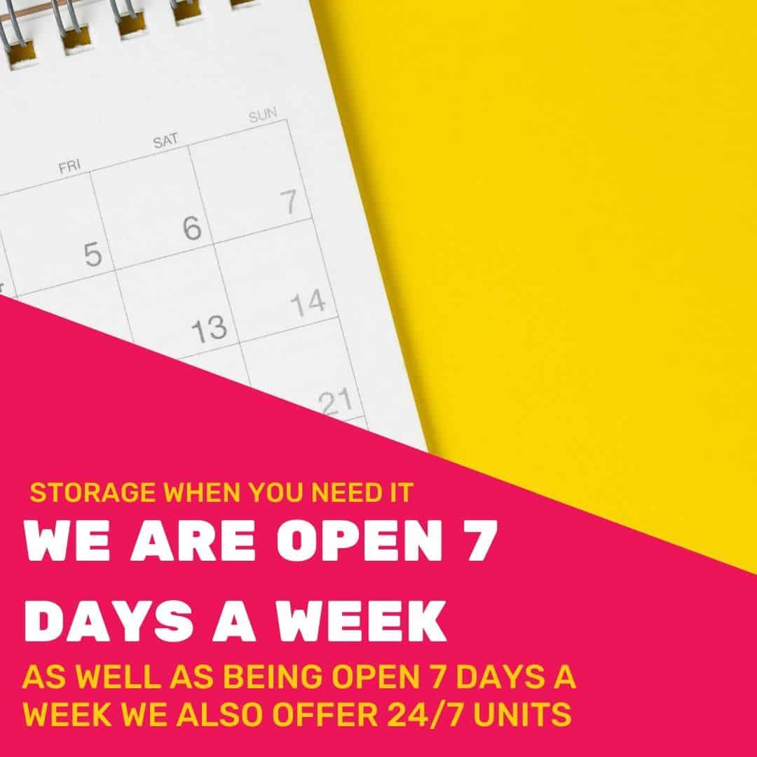 Open 7 Days a week Offer