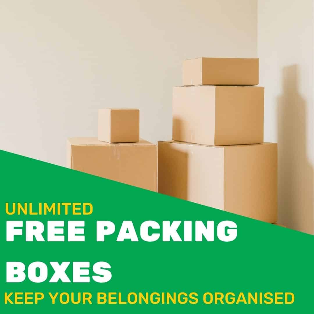 Free Packing Boxes Promotional Image