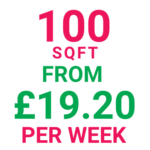 Storage Manchester 100SqFt Prices